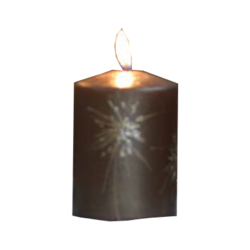 Dandelion - Blockljus 10 cm (Brun)