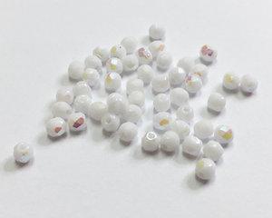 Fasetterade firepolish, White AB, 3 mm. 50 st