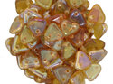 Czech Mate Triangle Bead, Rosaline Celsian. 5 gram.