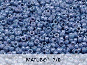 Matubo 7/0, Chalk White Blue Luster. 10 gram.