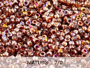 Matubo 7/0, Crystal Sliperit. 10 gram.