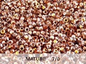 Matubo 7/0, Rosaline Gold Capri, 70120/27101. 10 gram.