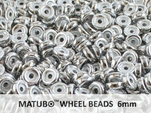 Wheel Bead, Chalk Full Labrador, 6 mm. 10 gram.