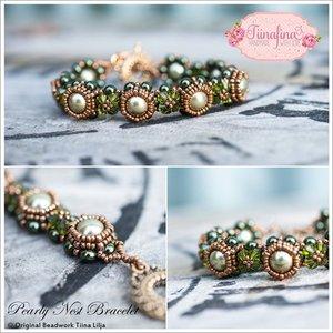 Pearly Nest Bracelet, av Tiina Lilja. PDF