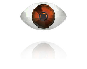 Eye Fancy Stone, 18*10,5 mm. Red Brown.