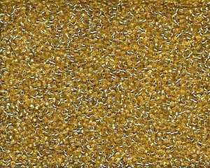 Miyuki seedbead 15/0, Gold SIlverlined, 003. 5  gram.