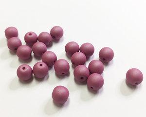 Runda druks, Opaque Wine Lees Silk Matte, 6 mm. 20 st
