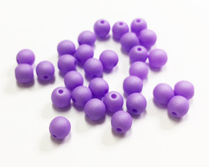 Runda druks, Opaque Violet Silk Matte, 4 mm. 30 st