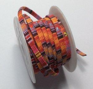 Vävt textilband i bo-ho stil, 5 mm bredd. Per 50 cm