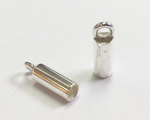 Runda ändhylsor 3 mm. 2 st.
