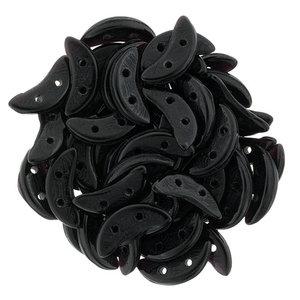 Czech Mate® Crescent beads, Jet, 23980. 50 st.