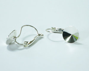 Brisyr örkrokar för rivoli 10 mm, galvaniserad i Tjeckien, silver. 1 par