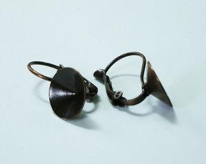 Brisyr örkrokar för rivoli 10 mm, galvaniserad i Tjeckien, matt koppar. 1 par