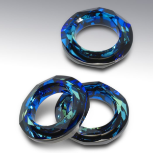 Swarowski Cosmic Ring 14 mm. Crystal Bermuda Blue.