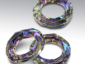 Swarowski Cosmic Ring 14 mm. Crystal Vitrail Light.