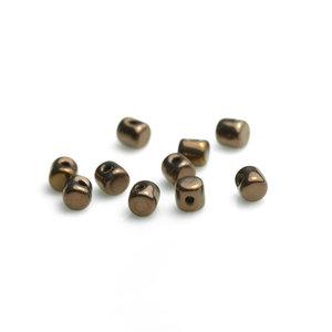 Minos® par Puca,® 2,5*3 mm. Jet Dark Bronze, 23980/14415. 5 gram.
