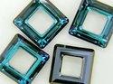 Swarowski Square 20*20 mm. Crystal Bermuda Blue.