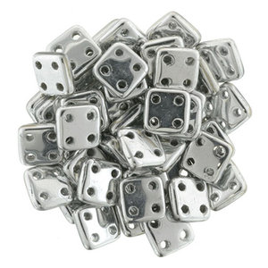 Czech Mate® QuadraTile, Silver, S00030. 5 gram.