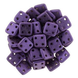 Czech Mate® QuadraTile, Metallic Suede Purple, 79021MJT. 5 gram.