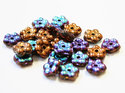 Forget-Me-Not, 5 mm. Crystal Glittery Bronze , 00030/98556. 50 st.