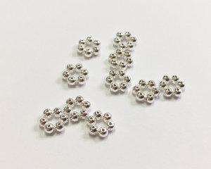 Daisy mellandel i sterling silver, 5 mm. 10 st.
