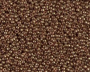 Miyuki seedbead 15/0, Dk Topaz Gold Luster, 1882. 5 gram