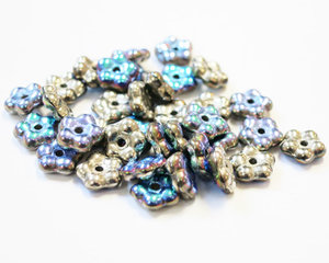 Forget-Me-Not, 5 mm. Crystal Glittery Argentic, 00030/98554. 50 st.