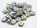 Forget-Me-Not, 5 mm. Crystal Glittery SIlver, 00030/98553. 50 st.