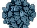 Czech Mate Triangle Bead, Pearl Coat Steel Blue. 5 gram.