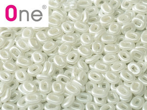 One® Bead Alabaster Pastel White, 02010/25001, 1,5 x 5 mm. 5 gram.