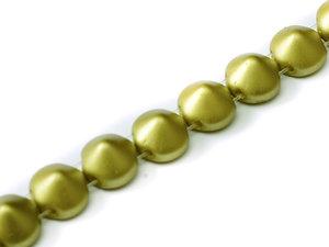 Tipp bead Pastel Lime, 25021, 8 mm. En sträng med 20 pärlor.
