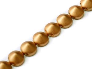 Tipp bead Metallic Copper, 29412, 8 mm. En sträng med 20 pärlor.