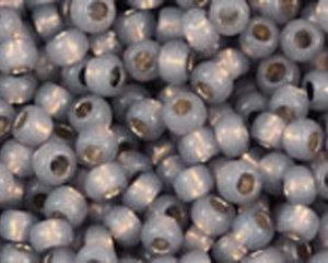 TOHO seedbead 11/0, Silverlined Milky Gray Permafinish. 5 gram.