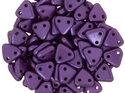 Czech Mate Triangle Bead, Pearl Coat Purple Velvet. 5 gram.