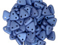 Czech Mate Triangle Bead, Metallic Suede Blue. 5 gram.