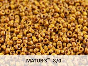 Matubo 8/0, Lemon Dark Travertin. 10 gram.