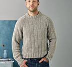 Herrsweater med tvärgående ränder i resår - Dagmar by Permin