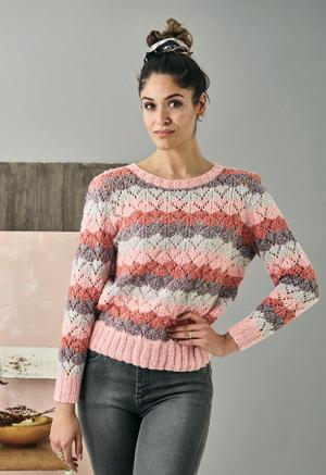 Sweater med vågränder - Isabella by Permin