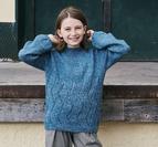 Hålmönstrad tröja m. tutleneck - Isabella by Permin