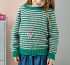 Raglan sweater med ränder till barn -  Alice by Permin