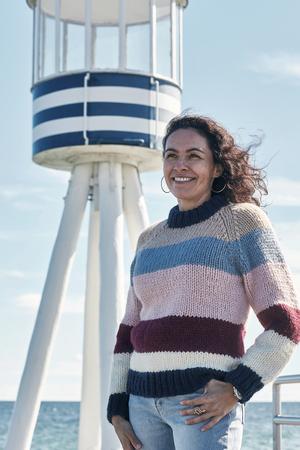 Raglansweater med ränder - Betty by Permin
