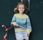 Sweater med snodd raglan och ballongärmar i Alberte och Angel
