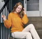 Hålmönstrad sweater - Bella by Permin