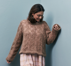 Sweater med hålmönster - Bella by Permin
