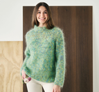 Sweater med djup raglan - Bella Color