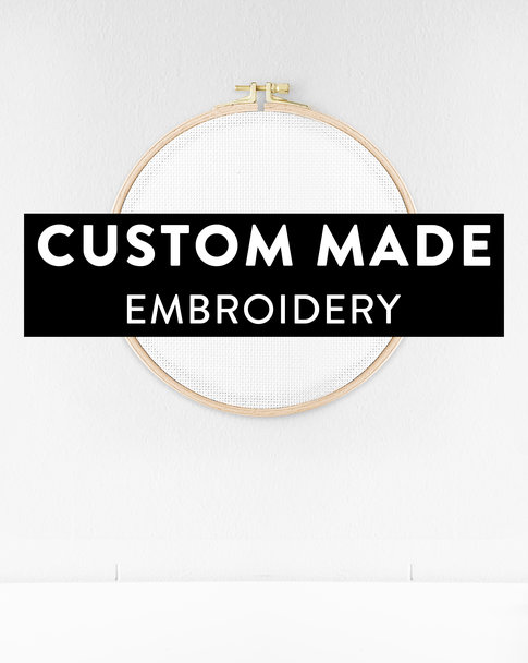 Embroidery kit with Aida cloth