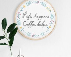 Life happens (Digitalt broderimönster)