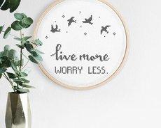 Worry less (Digitalt broderimönster)