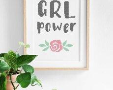 Grl Power (Digitalt broderimönster)