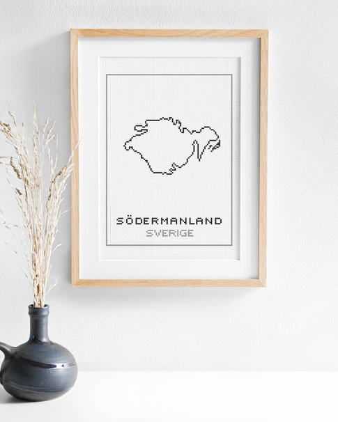 Cross stitch kit aida – Södermanland